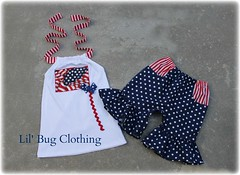 july (Lil' Bug Clothing) Tags: flag 4th july short halter