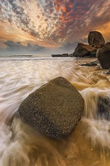 Sleeping Giant Rage (Ahmad Fahmi (markthedg)) Tags: sleeping seascape color beautiful rock stone sunrise giant landscape photo nikon scenery view graphic sigma filter lee nikkor 1020 lense hoya waterscape lensa nd8