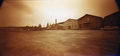 Pinholeday 2013 14 (pbjorno) Tags: 120 film analog holga lomo panoramic pinhole c41 redscale diyc41 holga120wpc