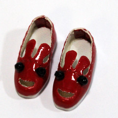 Red Cartoon Slip-On for BJD Dolls Lati Yellow, PukiFee, Riley Kish, Bobobie Nissa, DIM Silf, Dollk S00066A (dollb @ Flickr) Tags: yellow miniature shoes doll tiny bjd leffy accessory latidoll lati abjds tinybjd pukifee dollb