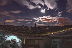 Moon Calling (Patandpatate Photography) Tags: sky moon night stars landscape hdr