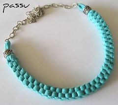 Gargantilla Trapillo (passu25) Tags: blue necklace collar gargantilla turquesa trapillo