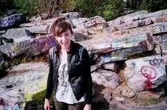(Laura Koza) Tags: film 35mm rocks grafitti pennsylvania olympus fujifilm olympusxa2 lehighvalley fujicolor fujicolor400 bakeovenknob