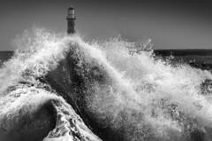 Roker Lighthouse, Sunderland (DM Allan) Tags: lighthouse storm waves northsea sunderland roker wearside