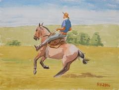 DSC01918_low (RafaelSan) Tags: caballo redomon criollo gaucho uruguay horse watercolor acuarela