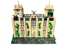 Wayne Manor 03 (Ptra) Tags: lego moc waynemanor batman batcave robin alfred manor mansion house statues hall minifigs