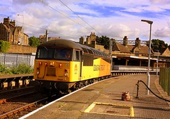Grid to meet you! (Chris Baines) Tags: colas 56087 carnforth platform light engine from muirhouse