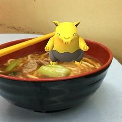 Look like this #Drowzee loves my noodle very much. #Pokemon #PokemonGO #LetsGO! #pokemonphoto #pokemonphotos #pokemonphotography #pokemongraphy #pokemonbaby #pokemonlover #pokemonart #pokemonstyle #pokegram #pokestyle (WindKoh) Tags: wind windkoh instagram