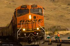 BNSF 7403 at Wishram, WA, Aug 2016 (Gary L. Quay) Tags: bnsf burlington northern santa fe washington wishram columbia gorge river rail railroad gary quay nikon tamron
