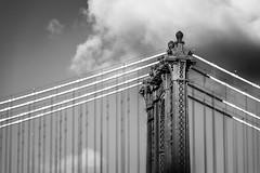 Manhattan Bridge (Gabriel Mirasol) Tags: nikon d600 80200mm 80200 telephoto blackandwhite black white bw contrast architecture