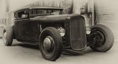 Al Capone lsst gren (ellen-ow) Tags: auto ratrod ratcar amicar oldtimer verkehr fahrzeug car blackandwhite schwarzweis tonung ellenow nikond700 hotrod