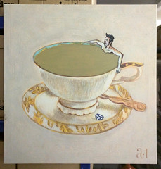 Time for tea with id-iom (id-iom) Tags: tead swim man cuppa british teabag cup saucer