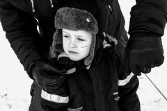 SAM_3833 (Madara Troscenko) Tags: family sweden winter cold january mountain fun skiing snow child kids childhood running sport action friends youth nordic scandinavia documentary blackwhite monochrome samsungnx11 portrait