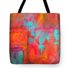 22 (CheerfulWhimsy) Tags: tote bag art abstract paint shopping original painting bright cheerful