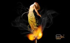 Atelier2 - Espirito do fogo (Atelier 2) Tags: atelier2 mulher fosforo fogo luz manipulao imagem preto surreal flame match girl