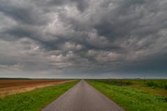 Endless Road (frata60) Tags: nikon netherlands nederland 1224mm tokina landscape landschap meeden groningen luchten lucht sky skyscape road weg