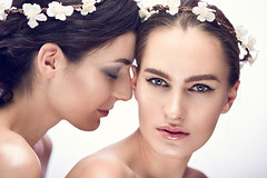 Two young beauty girls (n_lev44) Tags: ifttt 500px young wellness adult attractive beautiful beauty braid brunette caucasian clean skin cosmetics cute fashion female flower wreath friendship girl gorgeous hairstyle lady makeup model natural portrait sensuality sexy studio style together two woman cleanskin flowerwreath