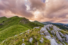 On the ridge (Aleksandar Simovi) Tags: prokletije mountainprokletije nationalparkprokletije nacionalniparkprokletije montenegro crnagora plav gusinje grbaja albania albanija sunset clouds cloud orange rose red cloudfire landscape landscapes landscapephotography highlands mountain mountains mountainside planina canon6d canonef1740mmf4lusm biology herpetology research meadow outdoor peak peaks hill hills cloudporn volusnica valusnica trojan popadija karanfili hike camp hiking albanian alps albanianalps balkanalps