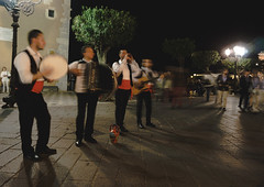 Volare (nadeeshacabral) Tags: street musician urban photography night band guitar long exposure italy sicily live music sony a6000