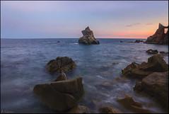 Atardecer (antoniocamero21) Tags: atardecer paisaje marina color foto sony playa cala frares mar de lloret brava costa girona catalunya