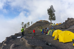 Pelawangan sembalun rinjani camp site (sydeen) Tags: blue outdoor hiking cloud lombok indonesia grass people top clouds savana tent mountain sky nature camping landscape sembalun hiker pelawangan plawangan porter rinjani mount walk tree