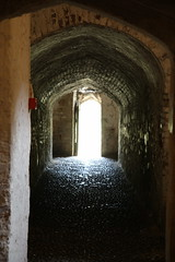 Passage to Moat (Dark Dwarf) Tags: holiday august 2016 kent deal castle passage moat
