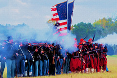 Zouaves to the Front (Robert Holler Photography) Tags: civil war reenactments manipulation painterly painting