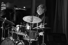 Beat out dat rhythm on a drum (Frank Fullard) Tags: frankfullard fullard candid portrait drum drummer music musican jazz rhythm blackandwhite monochrome performer artist musician concert performance