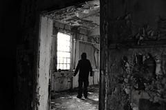 Mind over matter (Gareth Priest) Tags: bw portrait man human soul mood atmosphere time mysterious dark light highcontrast urbex urbandecay urbanexploration