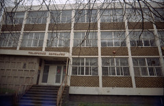 (Emma Swann) Tags: konicaminoltavx200 olympusom10 walthamstow hoestreet telephoneexchange abandoned empty bt britishtelecom 35mm film