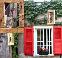 Quando il quotidiano diventa Arte... (SoleTempesta) Tags: finestra posate window cornici frames forchetta soletempesta piemonte fantasia originalit artigianato quotidianit persiane edera colore