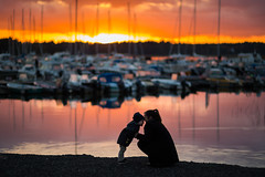 pure (JuNu_photography) Tags: mother child love fun sunset sea shore sigma 85mm f14 14 shallow dof bokeh portrait portraiture photooftheday moment