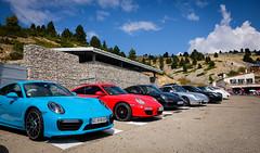 Porsche 911 @ Chateau Reynard (Mont Ventoux) (PaulHoo) Tags: porsche 911 car german color colour chateau reynard france mont ventoux 2016 sportscar fujifilm x70 blue red vignette vignetting mountain sky clouds