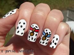 Nail Art: 101 Dálmatas (A Garota Esmaltada) Tags: agarotaesmaltada unhas esmaltes unhasdecoradas unhasartísticas nails nailpolish nailart naildesign 101dálmatas 101dalmatians dálmata dalmatian branco white disney