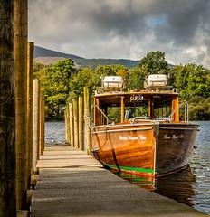 Waiting (tom ballard2009) Tags: derwentwater lakedistrict water lake boat jetty wood