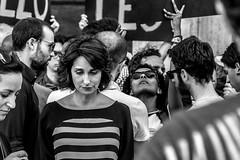 in the crowd (@ntomarto) Tags: antomarto ntomarto italia italy rome roma citt city citylife strada street urban urbano donna woman biancoenero blackandwhite bw tristezza sadness