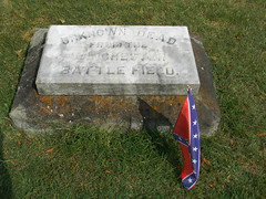 Stonewall Confederate Cemetery- Unknown Dead from the Winchester Battle Field (Photo Squirrel) Tags: battleofwinchester thirdbattleofwinchester grave massgrave memorial marker flag engraving confederate cemetery stonewallconfederatecemetery virginia winchesterva