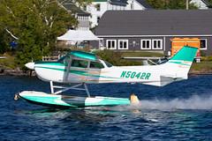 Private Cessna 172M N5042R (jbp274) Tags: 52b greenville greenvilleseaplaneflyin airplanes seaplane flyin mooseheadlake lake water cessna c172 skyhawk