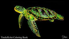 Sea Turtle (Trev Grant) Tags: turtle seaturtle1 greenturtle greenseaturtle cheloniamydas colouringbook intricateinkanimalsindetail timjeffs timjeffsart fabercastell polychromos colouredpencils 2016 21stseptember2016 zestit zestitblender