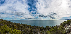 Bay view (Aaron.J.r.S) Tags: canon canon5dmark3 ef1740mmf4lusm eastcoasttasmania freycinetnationalpark thehazards hazards tasmania tasmanian australia australian photoshopcs6 panorama landscape lightroom4 greatoysterbay ocean