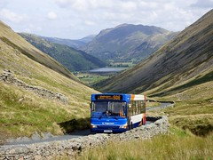 Stagecoach Cumbria 34716 - PX05EKK (Zak (Norwich Bus Page)) Tags: dennisdartslfalexanderpointer2 2016 stagecoachcumbria px05ekk route508 34716 windermere lake district cumbria penrith stagecoach bus scenery mountains hills hill keswick blue green stone wall clouds sky