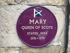 Mary Queen of Scots stayed here (Matt From London) Tags: buxton derbyshire maryqueenofscots plaque oldinn 1576 1578