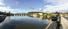 The River Vltava, Prague. (HVargas) Tags: vltavariver vltava riverside river czechrepublic praha prague praga landscape scenic panoramica