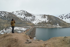 El Fotografo Fotografiado 2 - Embalse el Yeso - Chile (Carlos Garca Soto) Tags: el yeso embalse chile