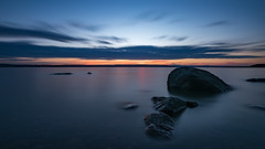 Rocky dawn (jarnasen) Tags: nikon d810 1635mmf4 tripod longexposure le leefilters nd10 bigstopper nikkor dawn brviken rocks sky colour horizon clouds nordiclandscape landscape sea stersjn sverige sweden stergtland djurn nature outdoor explore explored