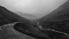 To Hardknot (_J @BRX) Tags: wrynosepass hardknotpass roadtrip sky mountains rain stream lakedistrict nationalpark cumbria england uk september2016 summer black white bw noir