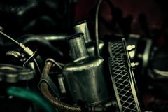 Twin Carbs (Steve.T.) Tags: engine mechanical sucarb twincarbs airfilter carburettor carburetor twincarburettor roadzsta4 ilobsterit nikon d7200 carengine sigma18200 sucarbs floatchamber fuelline