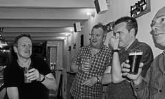More Beer (2nd Night - Kalderkold Craft Beer Bar) (BW) Panasonic Lumix DMC-LX100 Compact (markdbaynham) Tags: group people barcelona panasonic dmclx100 lx100 compact 2475mm f1728