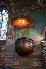 World pulpit (quinet) Tags: 2014 basilicaoftheholyblood basiliquedusaintsang belgium bruges glasmalerei heiligbloedbasiliek kanzel kirche chaire church pulpit stainedglass vitrail glise antwerp flanders