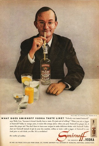 Wally Cox for Smirnoff vodka, 1957